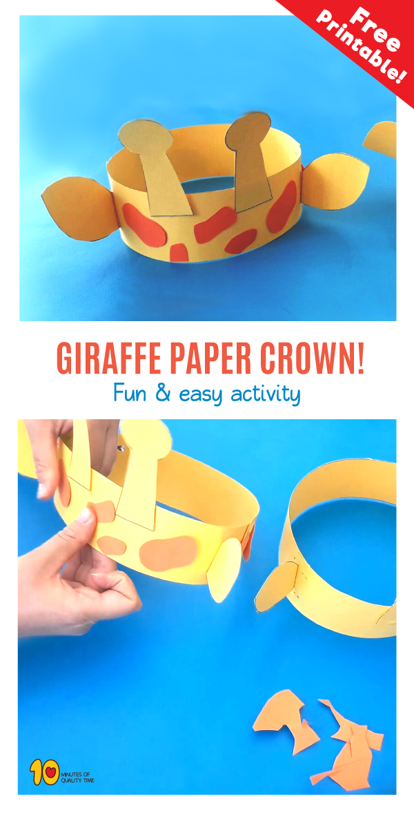 Create a Giraffe Crown is part of Zoo crafts - Related Posts How to Draw an Elephant How to Draw a Jellyfish The Impossible Paper Trick Mini Balloon Race 5 Split Pin Crafts for Kids Dog in Doghouse Illusion
