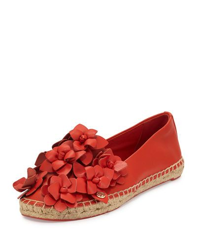 S1DL4 Tory Burch Blossom Leather Espadrille Flat · Women's  EspadrillesEspadrille ShoesSandalRed ...