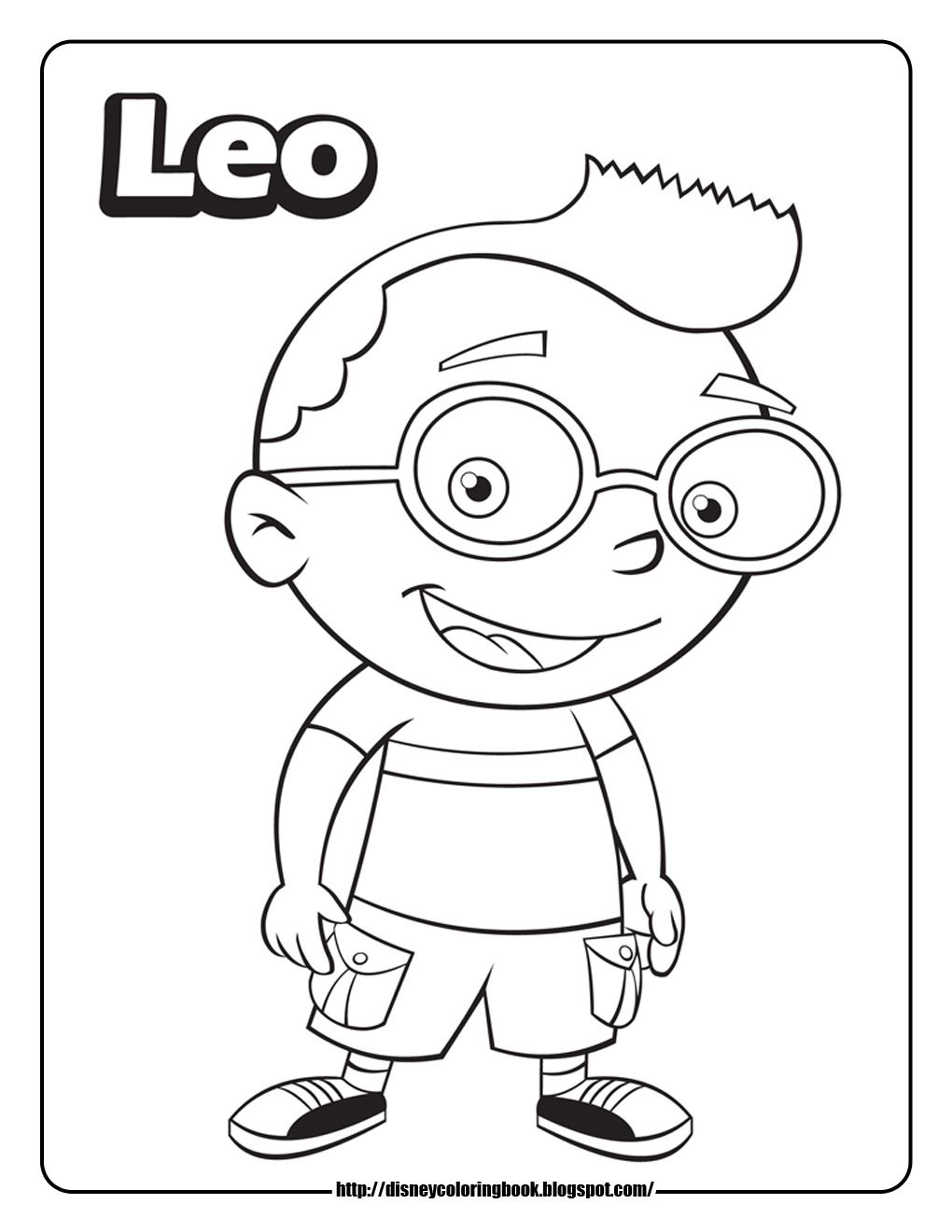 little einsteins coloring pages leo Baby Coleman Pinterest