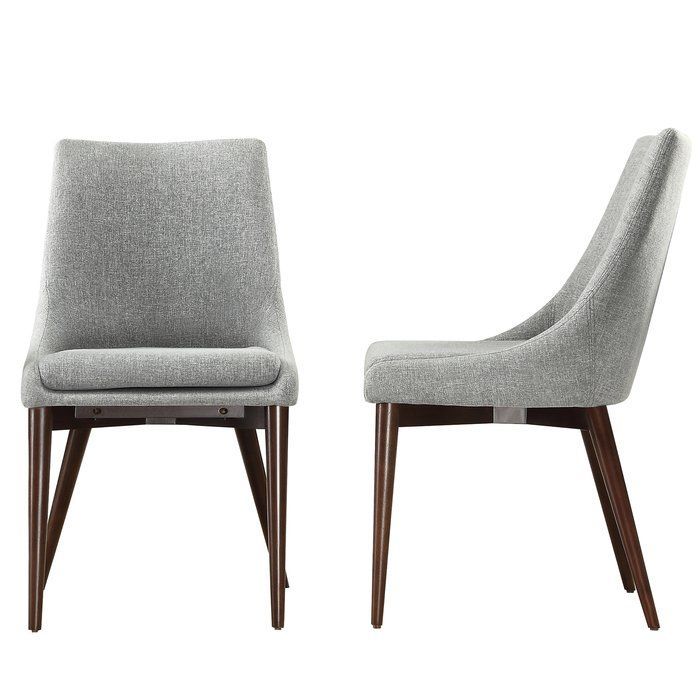 Cleland Upholstered Dining Chair In 2019 Toms Office