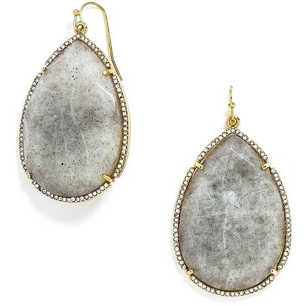 BaubleBar 'Boulder' Drop Earrings (56 CAD) ❤ liked on Polyvore featuring jewelry, earrings, gold, marble jewelry, statement earrings, bohemian style earrings, boho style jewelry and bohemian jewelry
