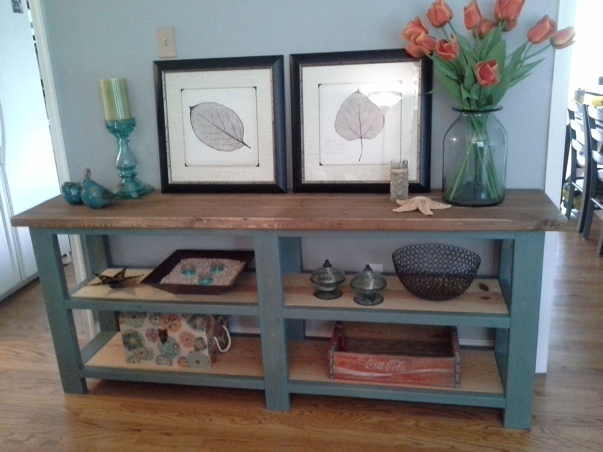 Do Yourself Home Improvement Project Rustic Console My First Project Do It Yourself Home