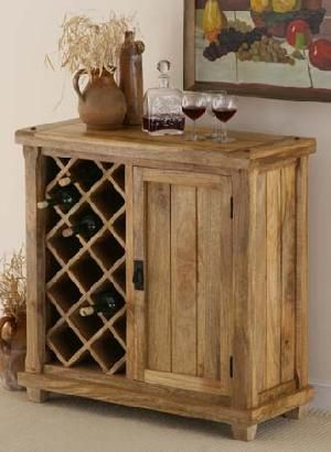Mango Wood Wine Cabinet Rack Storage Manufacturer Exporter Wholer India