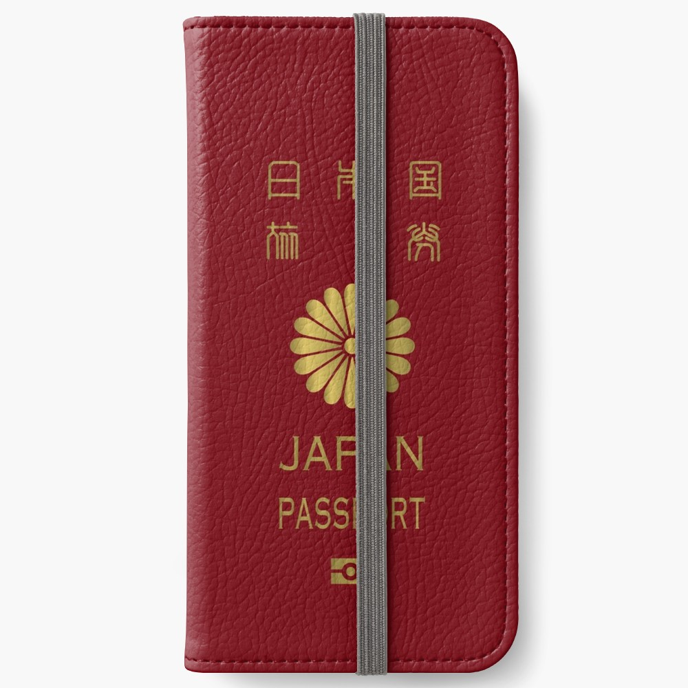 """Japanese Passport "" iPhone Wallet by japagra Redbubble"