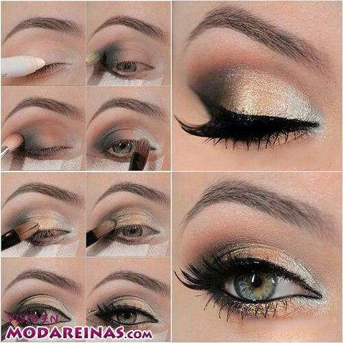 Un Estilo Para Fiesta Que Te Ayudara En El Ultimo Momento Maquillaje Ojos Verdes Sombras De Ojos Tutorial Maquillaje Ojos