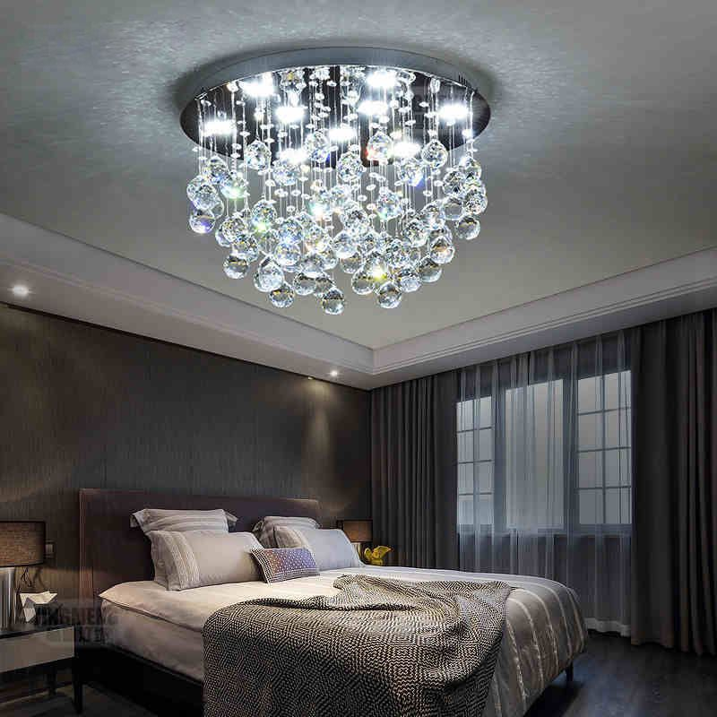 8 Modern Bedroom Lighting Ideas: Modern LED Crystal Ceiling Light Hallway Pendant Fixture