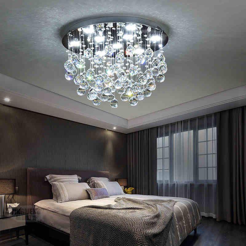 Modern Led Crystal Ceiling Light Hallway Pendant Fixture