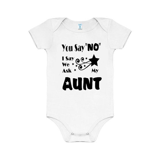 Funny Aunt Baby Clothes Infant Creeper Baby Announcement My Aunt is a bad influence Baby Suit Baby Shower Gifts Baby photos