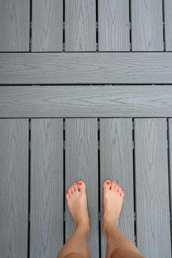 Grey trex deck housetweaking porch pinterest for Grey composite decking