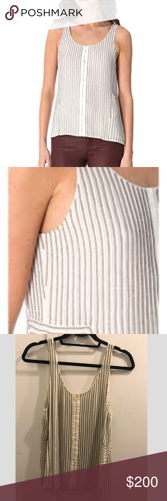 b1a475ea01946 Renzo + Kai Beaded Tank A canvas-trimmed hook-and-eye placket gives
