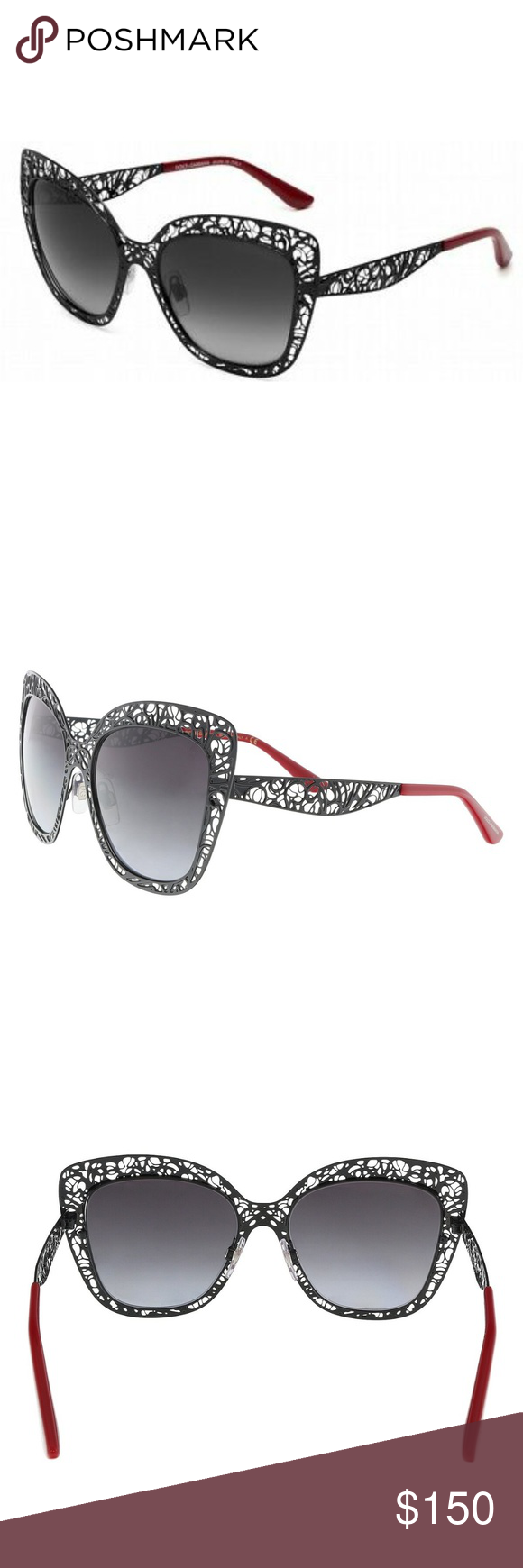 a7b04866b401 Dolce & Gabbana 2164 Sunglasses Cat-eye red cutout New Dolce & Gabbana  Sunglasses DG