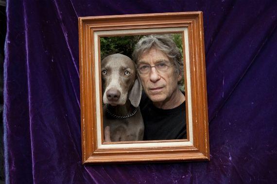 William Wegman and his dog FloPhoto © Kristine Larsen[content:shareblock]