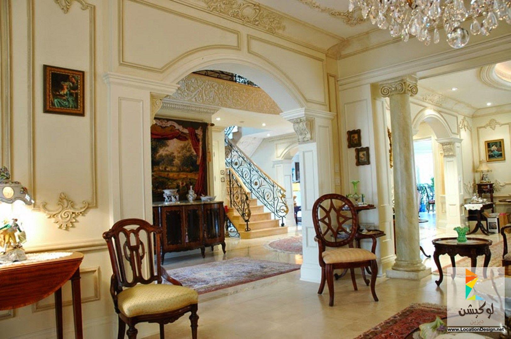 فورم جبس بورد ديكورات صالات استقبال الضيوف Home Stone Decor Classic House