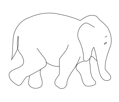 graphic relating to Elephant Outline Printable called elephant define clip artwork Elephant define, Elephant