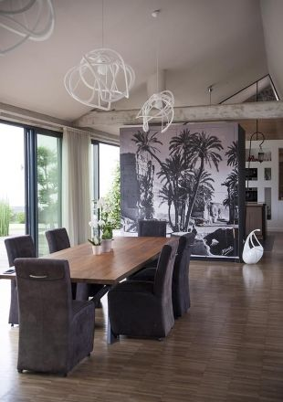 Salle à manger tropicale loft Salon   Living room Pinterest
