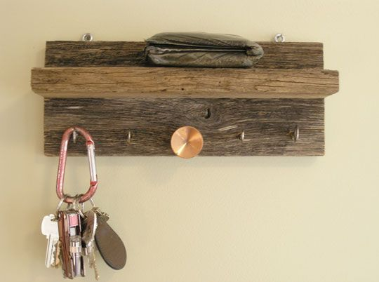 To rustic for me but I like the idea. Use recycled drawer pulls and a