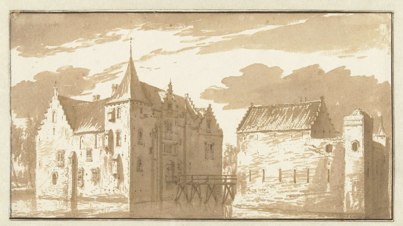 Abraham Rademaker   Kasteel van Langerak, Abraham Rademaker, 1685 - 1735  