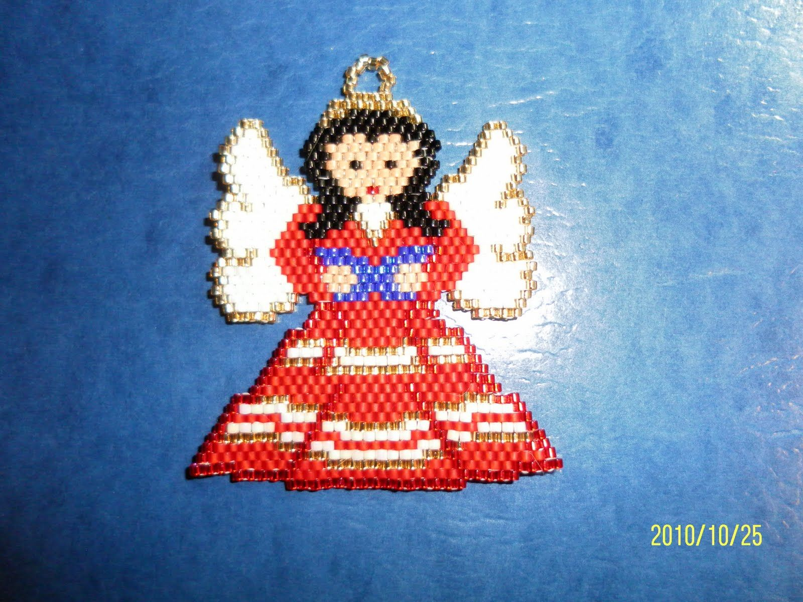 It S A Beadiful Day Asian Choir Angel Ornament Christmas Bead Beaded Ornament Covers Holiday Beading