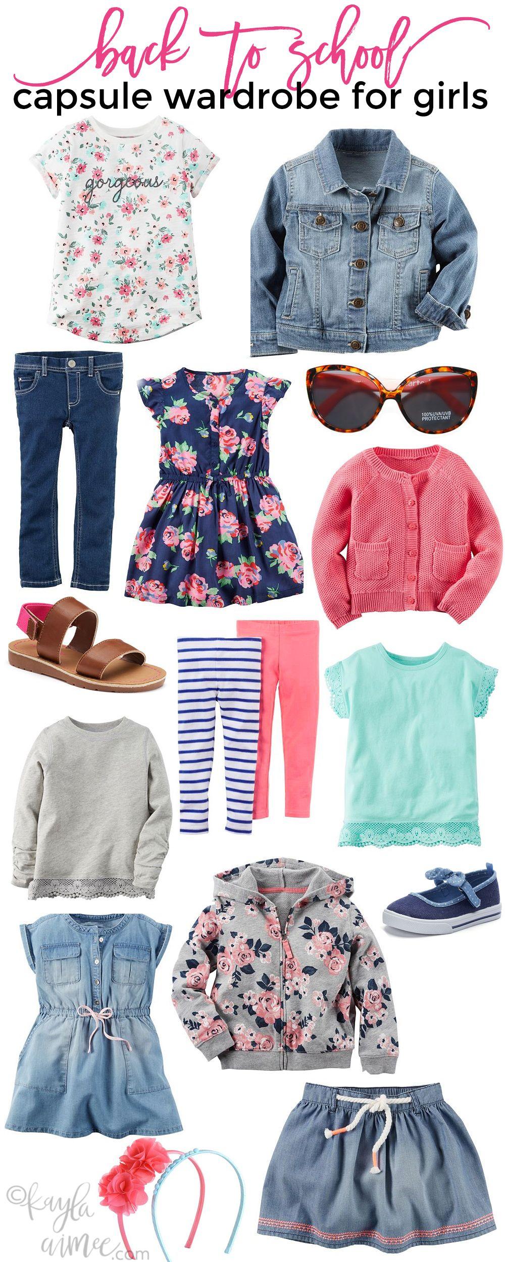 7e66721f7 Back To School  Capsule Wardrobe For Girls