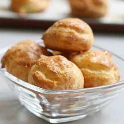 Gougères bourguignones (traditional French cheese puff recipe)