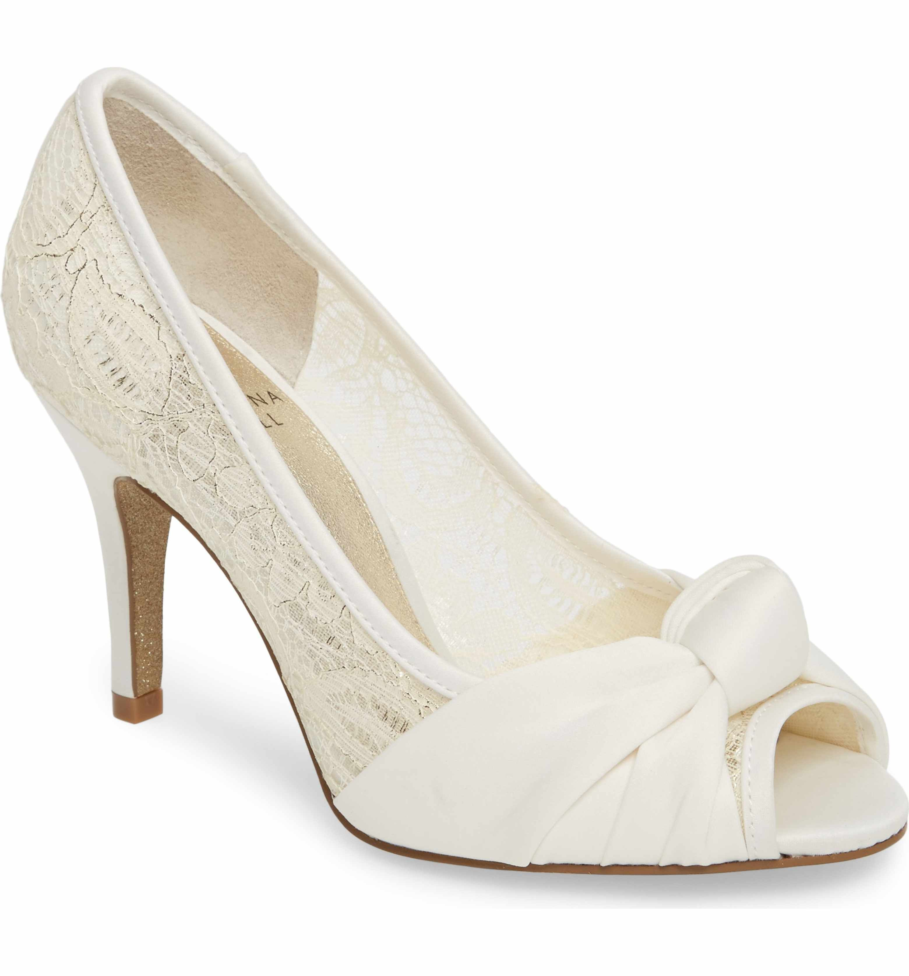 Bridal Shoes At Nordstrom: Adrianna Papell Francesca Knotted Peep Toe Pump (Women
