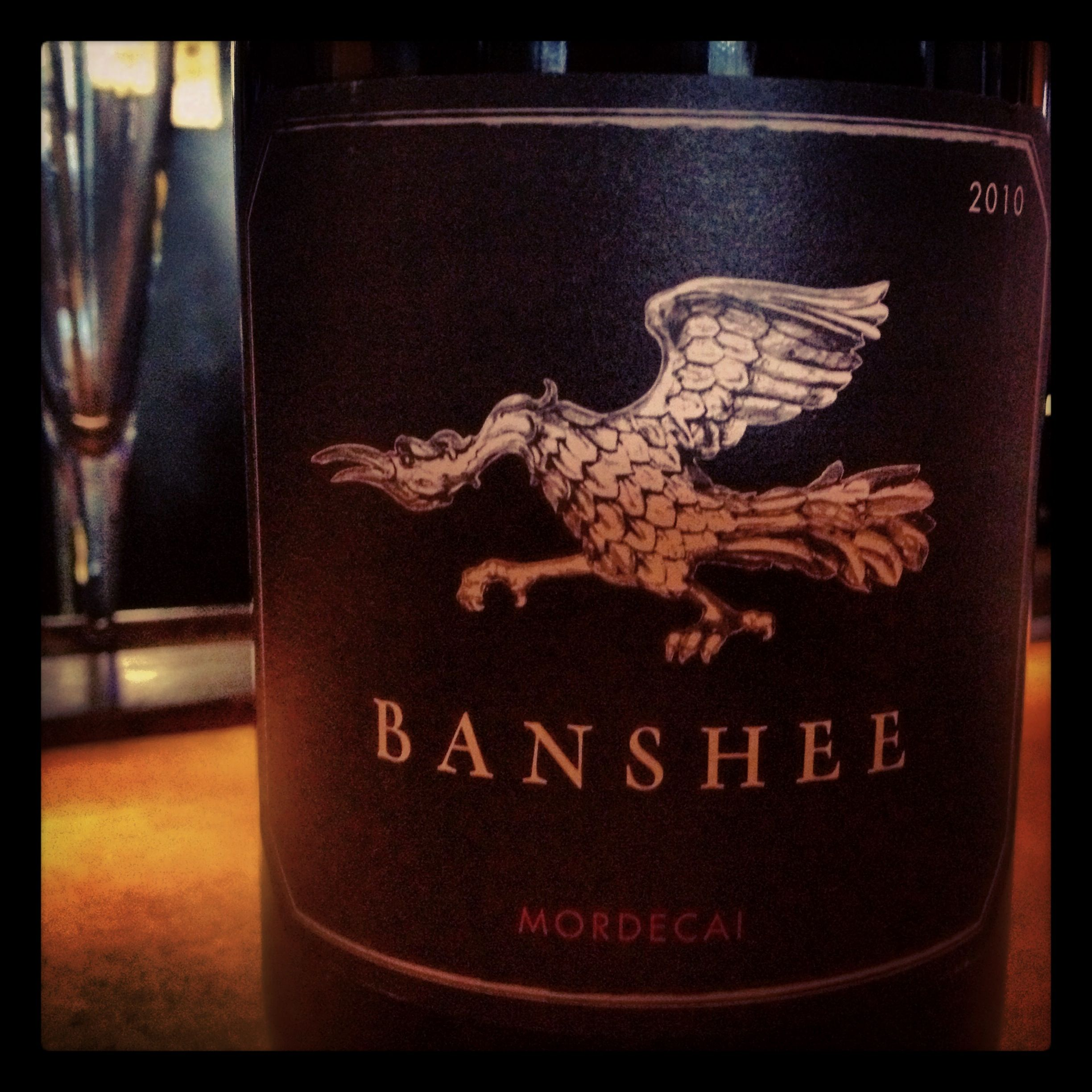 Love The Big Fruit Here Banshee Mordecai 2010 Wine And Beer