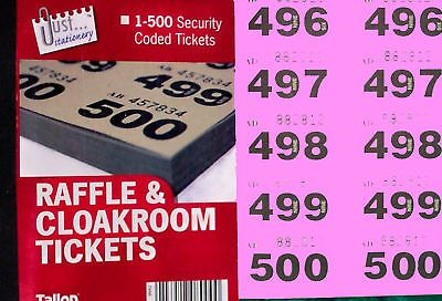 500 raffle tickets in a book cloakroom or tombola with duplicates view more on the link httpwwwzeppyioproductgb2380232309590
