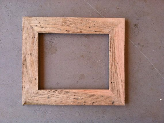 8x10 Rustic Oak Picture Frame | Oak picture frames, Wood pictures ...