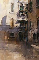 Shades of Venice by Vladislav Yeliseyev Watercolor ~ 21 x 14