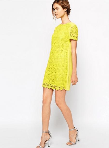 Vestito GialloEstivo2018 2019 DressesLace E Nel Fashion wPOk8n0