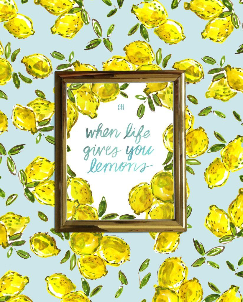 """When life gives you lemons, throw a party.  Painted by artist Evelyn Henson, allprints in the Spring Summer 2016 collection feature bold brushstrokes, colorful details, and the EH signature (can you find it?!). Your brightly decorated life starts here.  Print Details  Professionally printed on white rag 310 gsm paper with fade resistant inks for a high quality finish.    Frame Details  Framed in a 2"""" wide matte enamel finish Depth of frame is 3/4"""" and is made with real wood Includes a…"""