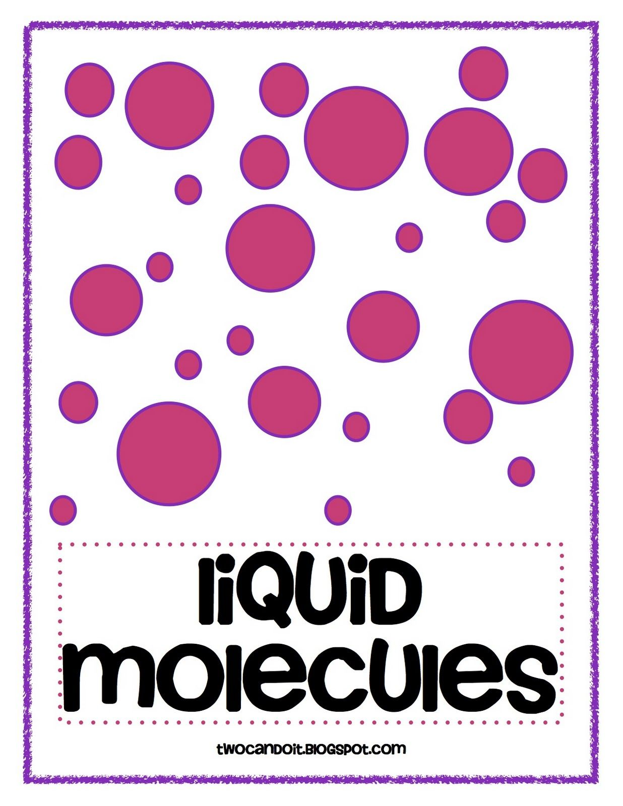 Solid Liquid And Gas Molecules Posters Freebie