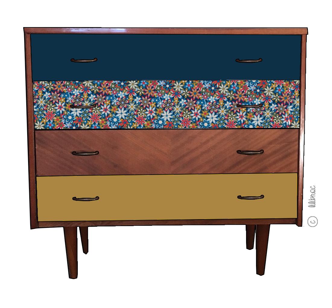 commode vintage nathana lle croquis de relooking. Black Bedroom Furniture Sets. Home Design Ideas