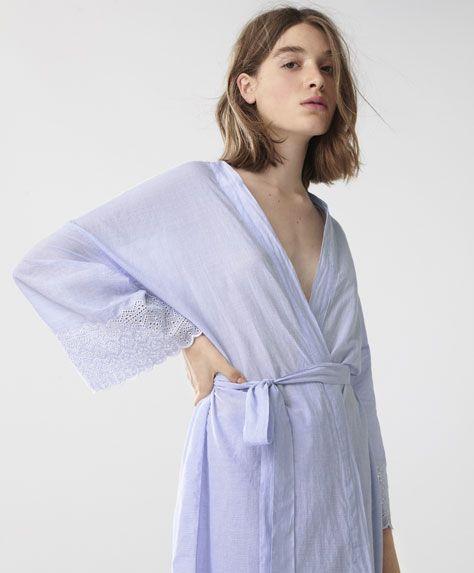 a81c9b36a33e Oysho - Bata bordados rayas. HOMEWEAR - Νεα - Spring Summer 2017 trends in women  fashion at Oysho online. Lingerie