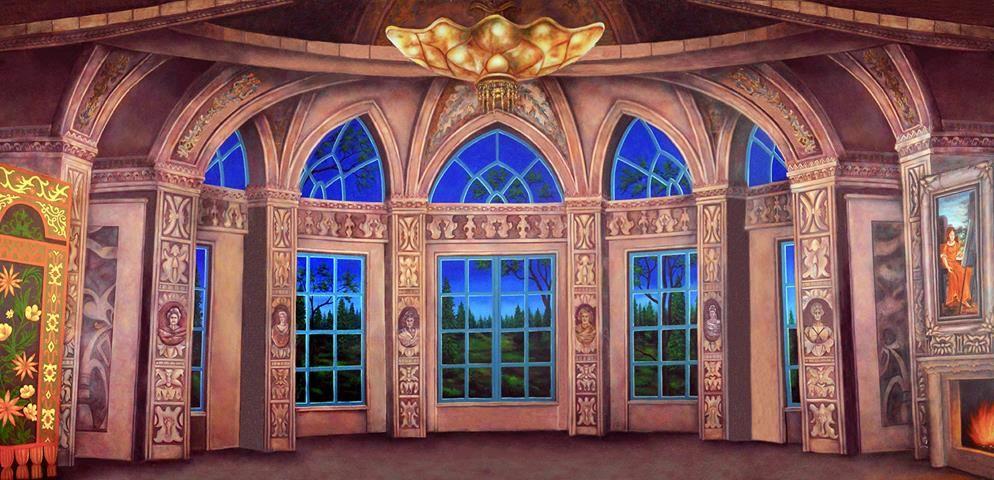 Baroque Ballroom Professional Scenic Backdrop Stage Backdrop