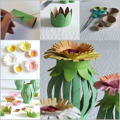 Diy toilet paper roll egg carton flower lantern flores pinterest flower diy toilet paper roll mightylinksfo Choice Image