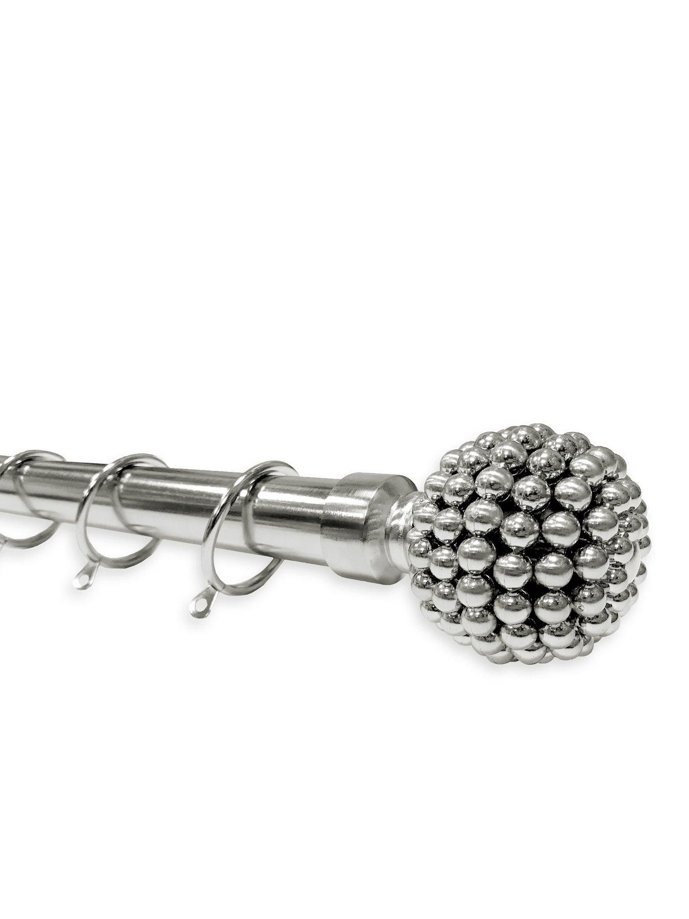 Large Studded Ball Finial Extendable Curtain Pole In 2020 Extendable Curtain Pole Curtain Poles Wow Products