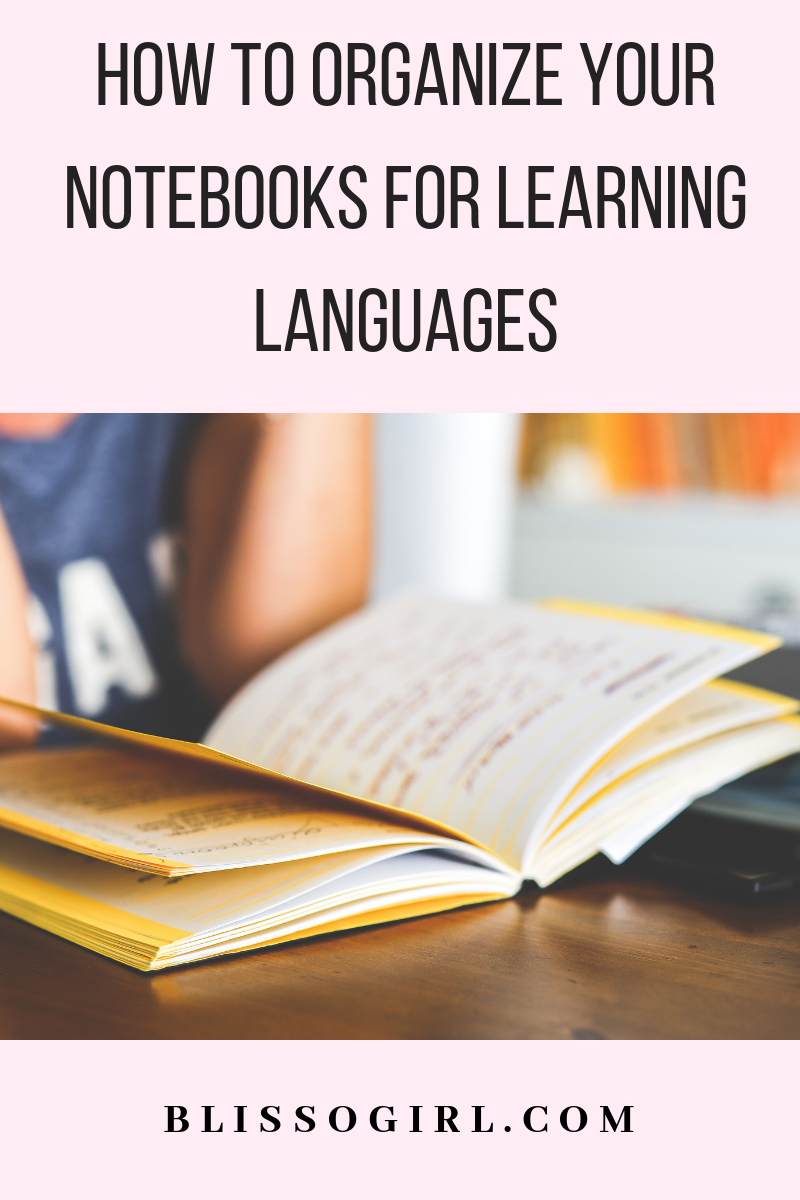 In this post I share with you my tips on how to organize your notebooks for learning any language! #languages #language #learning #student #notebook #organization #polyglot #bilingual #korean #spanish #japanese #german #english #spanishthings