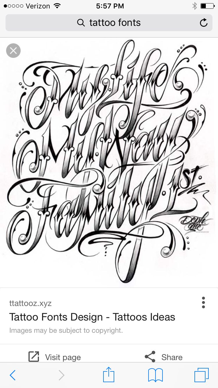 Images of Fancy Tattoo Lettering Generator - #rock-cafe