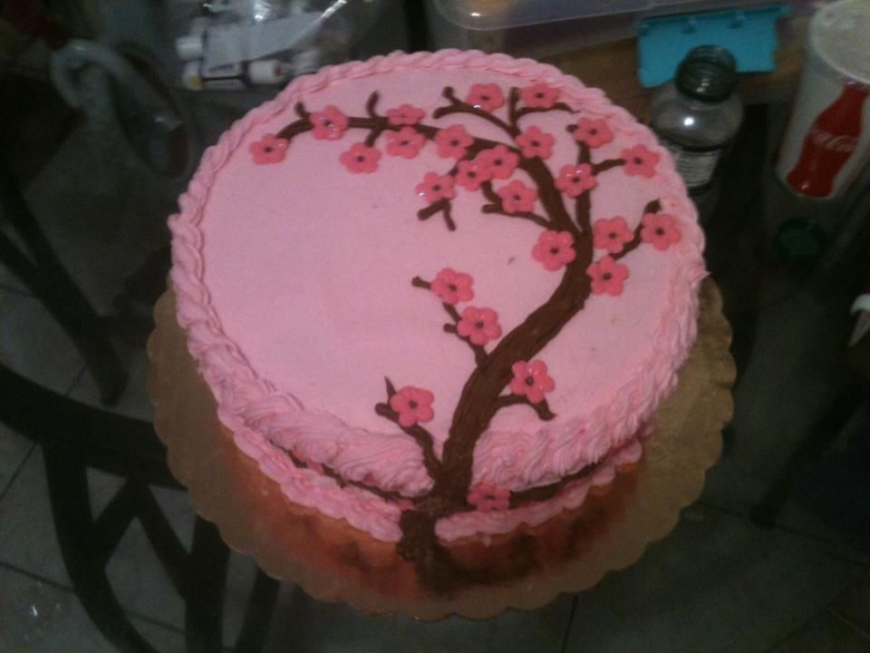 Cherry blossoms cake by Dulce Galeria