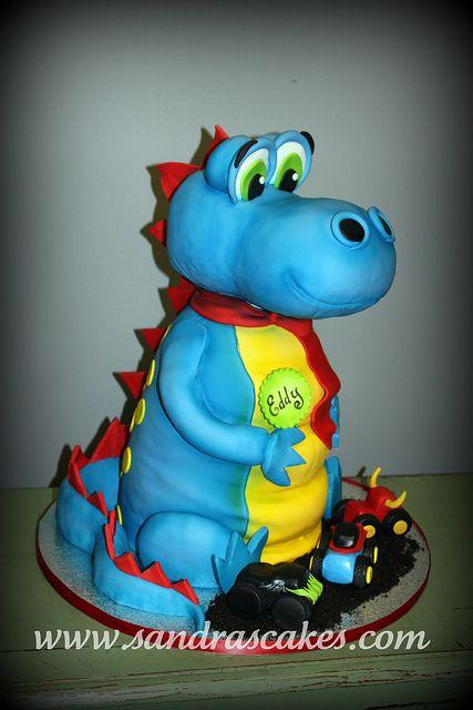 Sandra Durbin Dino cake Cake and Dinosaur cake
