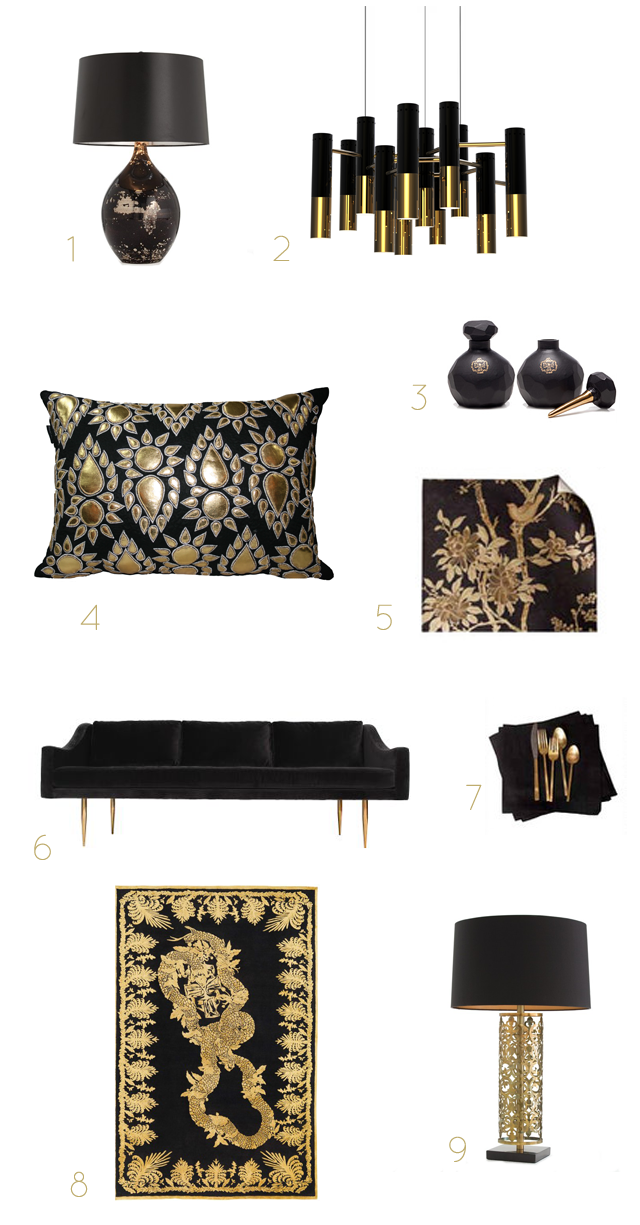 Black Gold Home Accessories