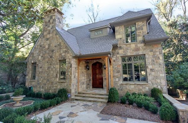 Atlanta Stone Cottage With Contemporary Charm From Castro Design Studio Stone House Plans Stone Cottage Homes English Cottage Interiors