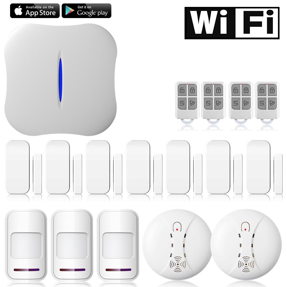 149.88$  Watch here - Etiger W1 WiFi PSTN Home Burglar Alarm System Kit phone APP remote Control +Smoke Detector  #SHOPPING