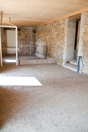 isoler un sol avec du b ton de chanvre d co en 2019 pinterest beton sol beton et chanvre. Black Bedroom Furniture Sets. Home Design Ideas