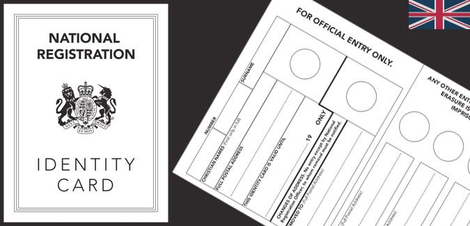 Our replica World War 2 identity card template contains front, back ...