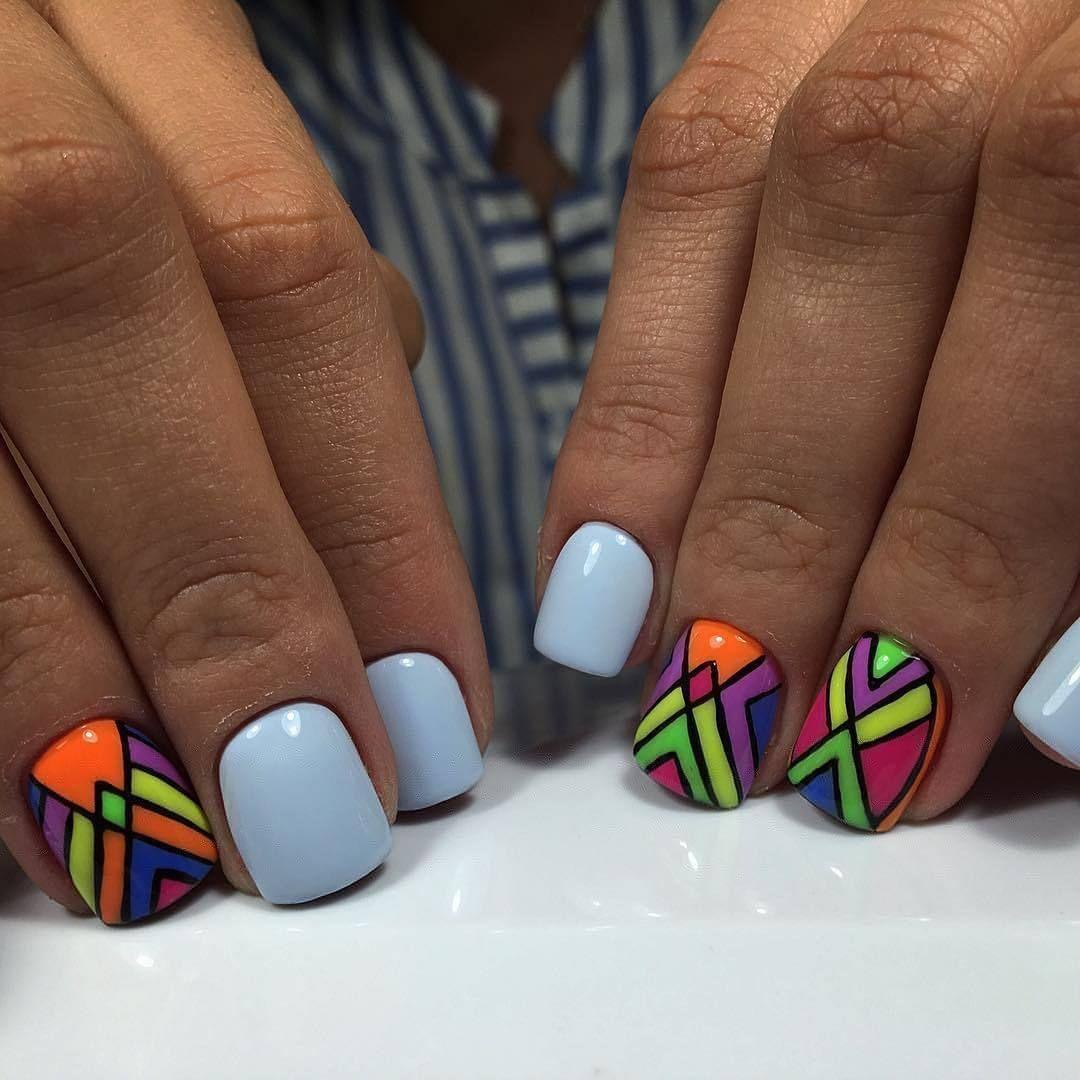Nail Art #2452 - Best Nail Art Designs Gallery | Short nails, Color ...