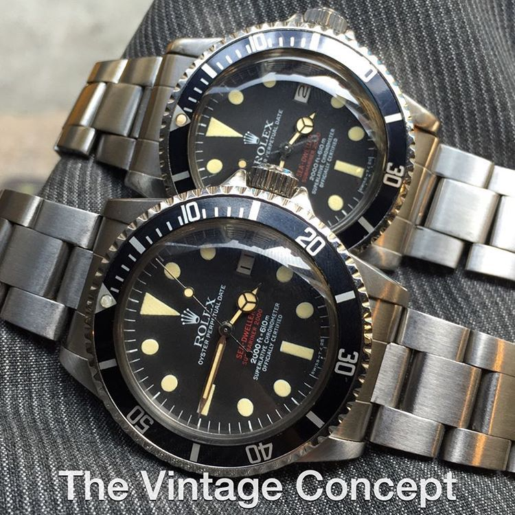 The Vintage Concept On Instagram Rolex Double Red Sea Dweller 1665 Mk Iv Iii Whatsapp 852 96991000 Email Info Thevin Vintage Concepts Sea Dweller Rolex