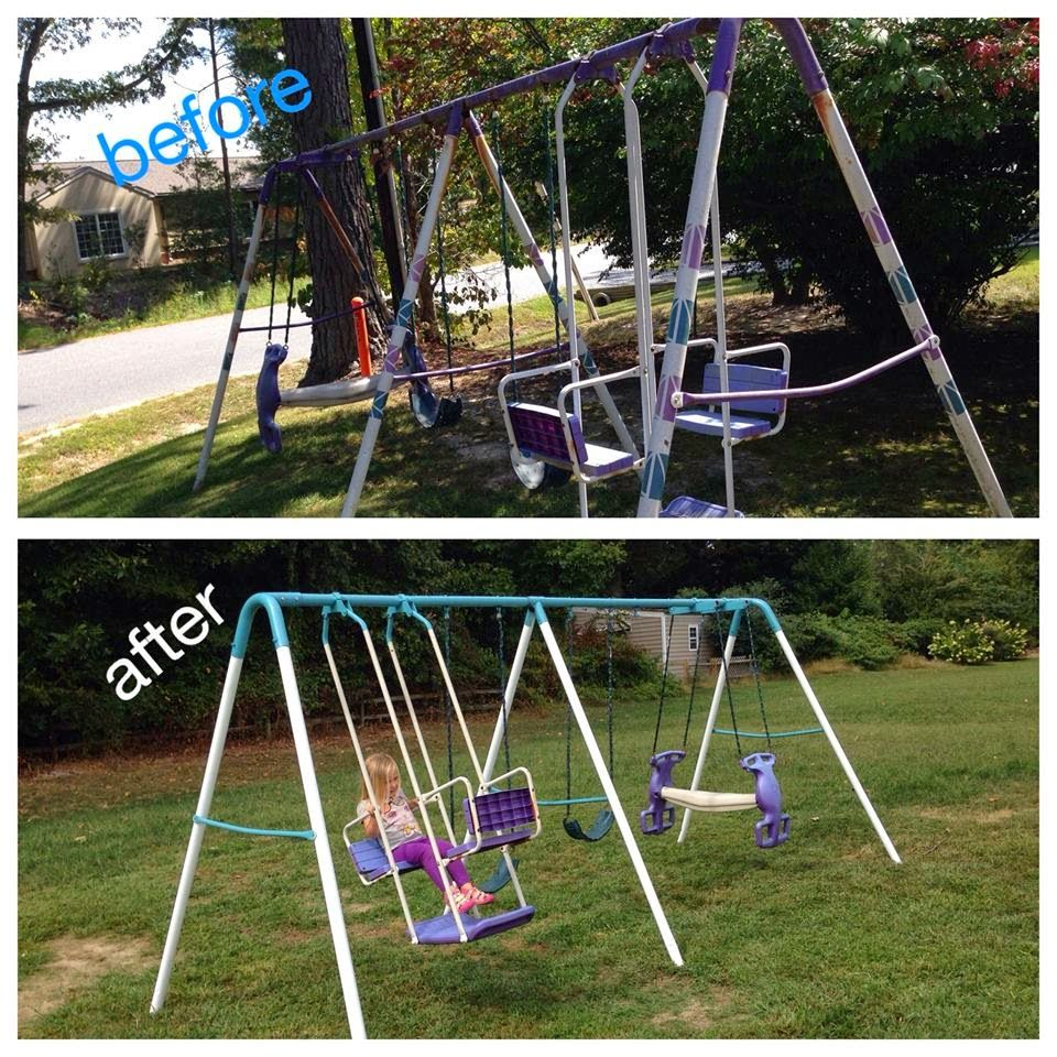 sets swing product indoor detail iron modern metal set home kids