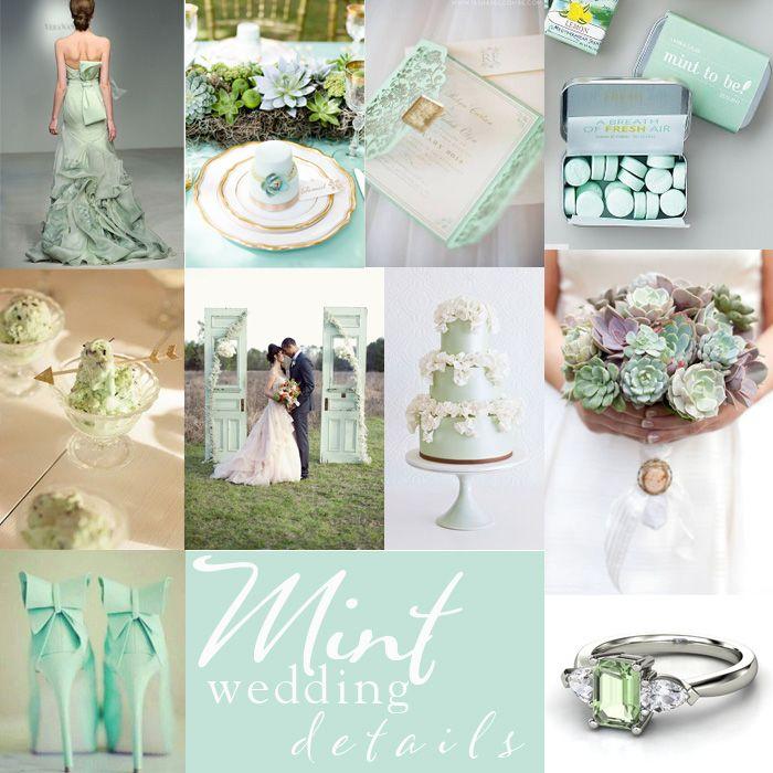 Wedding Wednesday Mint Green Wedding Details Mint green Wedding